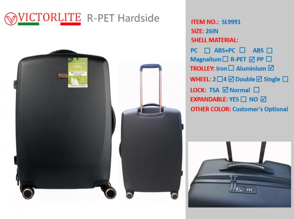 ECO-friendly RPET hardside Luggage set RPET HARD SIDE SUITCASE RPET Luggage set