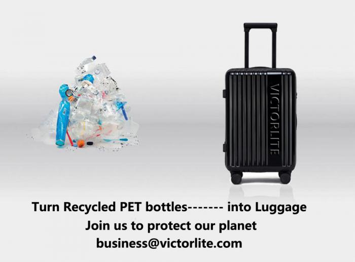 Follow Victorlite Team and Use ECO-friendly Recycled RPET Luggage